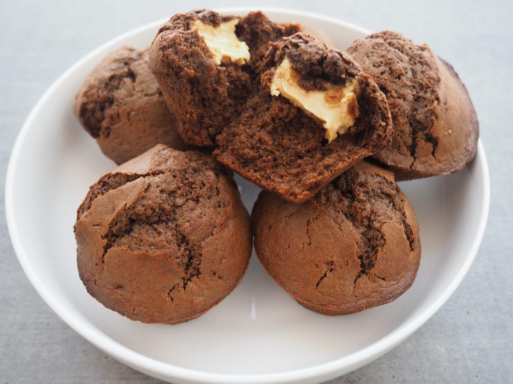 Muffin chocolat coeur beurre de cacahuète