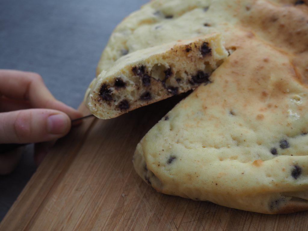 Gâteau au fromage blanc et pépites de chocolat