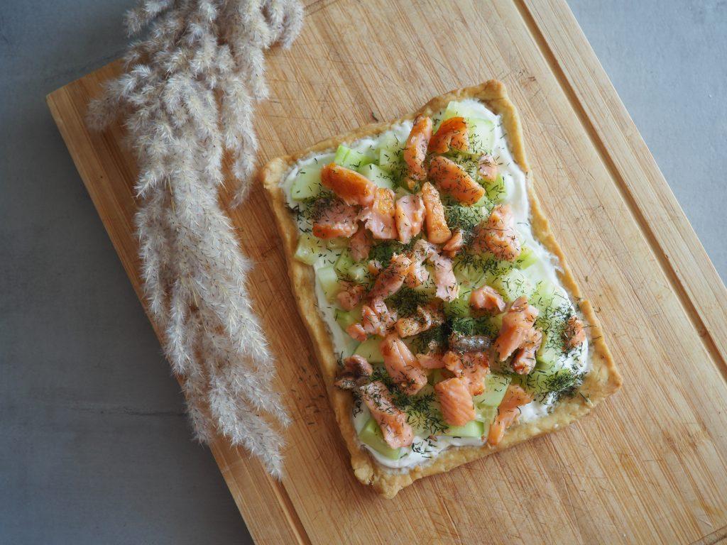 Tarte concombres saumon